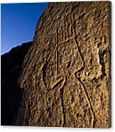 Petroglyphs Are Seen At Twilight Canvas Print
