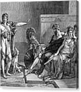 Phaedra And Hippolytus Canvas Print
