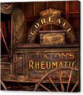 Pharmacy - The Rheumatic Cure Wagon  Canvas Print