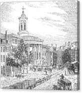 Philadelphia, 1854 Canvas Print