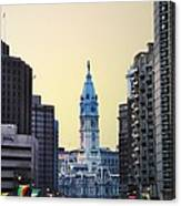 Philadelphia Cityhall At Dawn Canvas Print