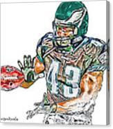 Philadelphia Eagles Leonard Weaver Canvas Print