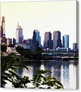 Philadelphia From The Banks Of The Schuylkill River Canvas Print