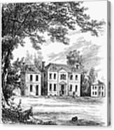 Philadelphia: Mansion Canvas Print