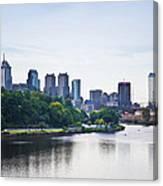 Philadelphia View From The Girard Avenue Bridge Canvas Print