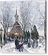 Philadelphia: Winter, 1873 Canvas Print