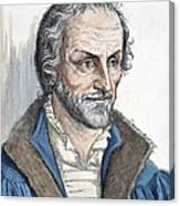Philipp Melanchthon (1497-1560). German Scholar And Religious Reformer: Line Engraving, German, 19th Century Canvas Print