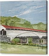 Philippi Covered Bridge  Canvas Print