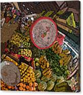 Philippines 2100 Food Market With Scale Canvas Print