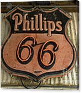 Phillips 66 Vintage Sign Canvas Print