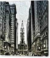 Philly - Broad Street Canvas Print