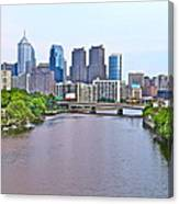 Philly By Water Canvas Print