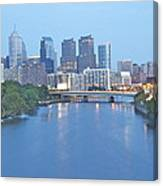 Philly In Blue Canvas Print