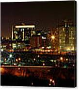 Philly Night Panoramic Canvas Print