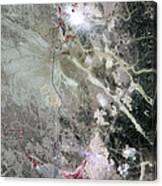 Phosphate Mines, Jordan Canvas Print