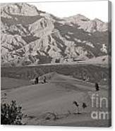 Photographers Capturing Images Of The Dunes At Death Valley  Canvas Print