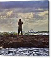 Photographing Seaside Life Canvas Print