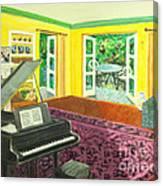 Piano Room Variation I Canvas Print