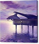 Piano's Lesson Canvas Print