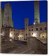 Piazza Duomo At Dusk Canvas Print