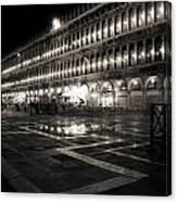 Piazza San Marco At Night Venice Canvas Print