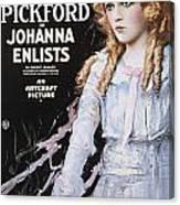 Pickford Film Poster, 1918 Canvas Print