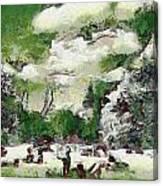 Picnic In Park Canvas Print