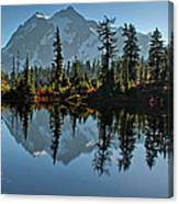 Picture Lake - Heather Meadows Landscape In Autumn Art Prints Canvas Print