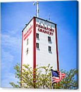 Picture Of Frankfort Grainery In Frankfort Illinois Canvas Print