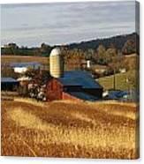 Picturesque Farm Photographed Canvas Print