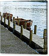 Pier At Lake Windemere Canvas Print