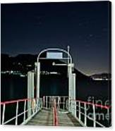 Pier At Night Canvas Print