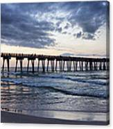 Pier In The Evening Canvas Print