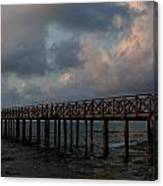 Pier Into Dawn Canvas Print