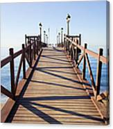Pier On Costa Del Sol In Marbella Canvas Print