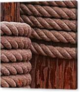 Pier Ropes II Canvas Print