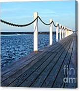 Pier To The Ocean Canvas Print