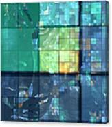 Piercing Geo Green Canvas Print