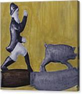 Pig Chasing Canvas Print