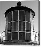 Pigeon Point Lighthouse Beacon - Black And White Canvas Print