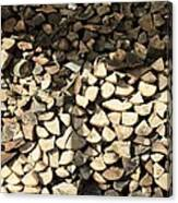 Pile Of Logs Canvas Print