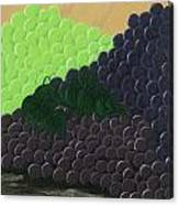 Pile Of Wine Grapes Canvas Print