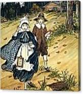 Pilgrim Schoolchildren Canvas Print