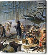 Pilgrims: First Winter, 1620 Canvas Print