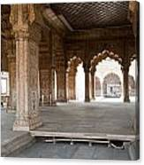 Pillars Of Building Inside Red Fort Canvas Print