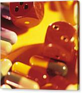 Pills And Dice Canvas Print