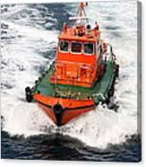 Pilot Boat - Dardanelles-canakkale Canvas Print