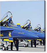 Pilots Of The Blue Angels Flight Canvas Print