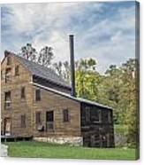 Pine Creek Grist Mill At Fall Canvas Print