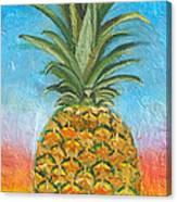 Pineapple Sunrise 2 Or Pinapple Sunset 2 Canvas Print